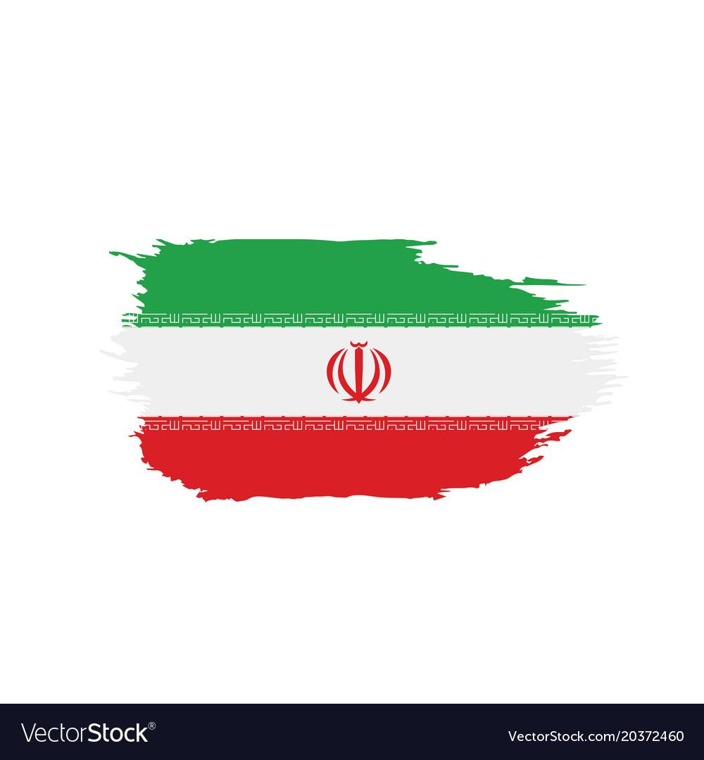 Iran Flag Royalty Free Vector Image Vectorstock