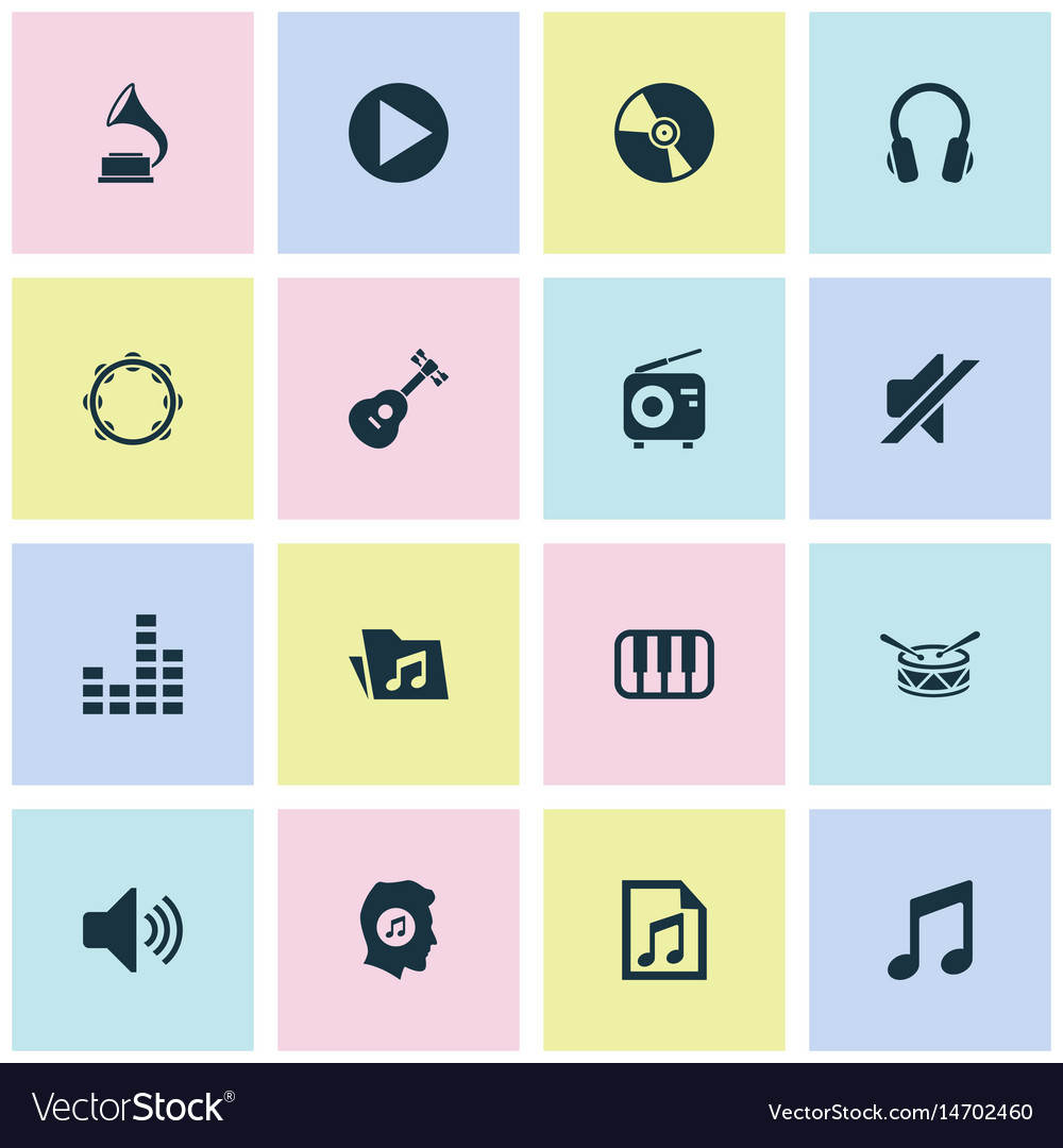 Music icons set collection of sound equalizer