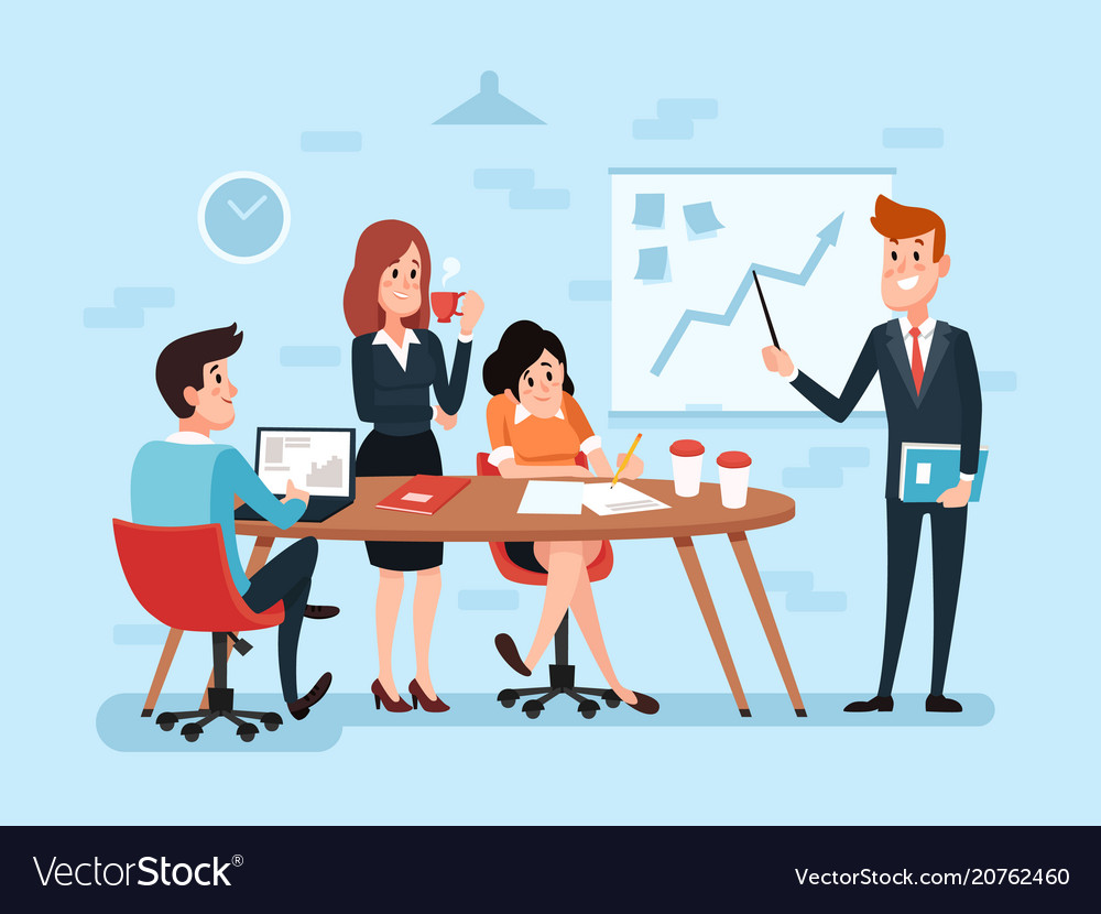 Office teamwork or business meeting busy