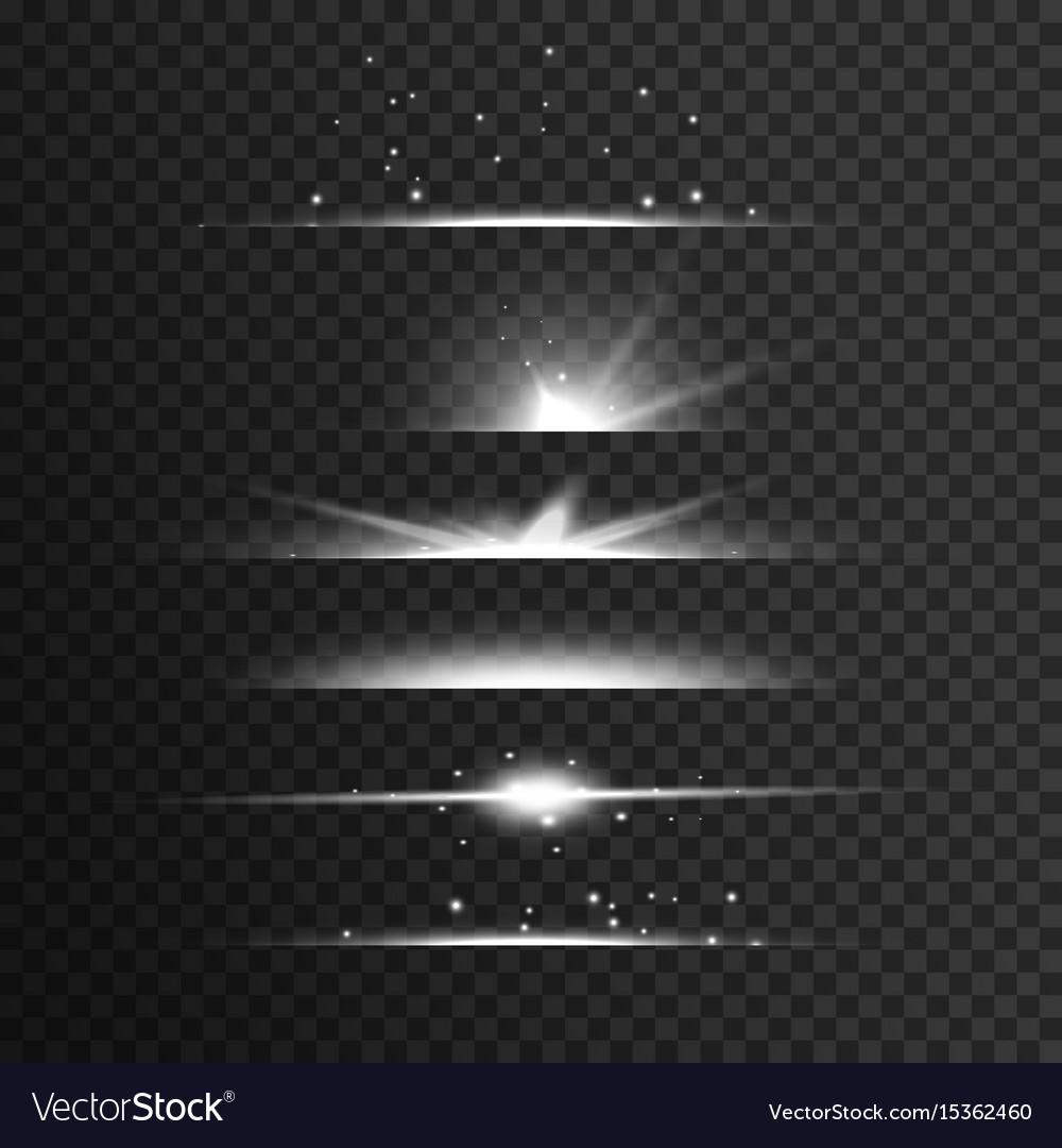Transparent white light streak effect background