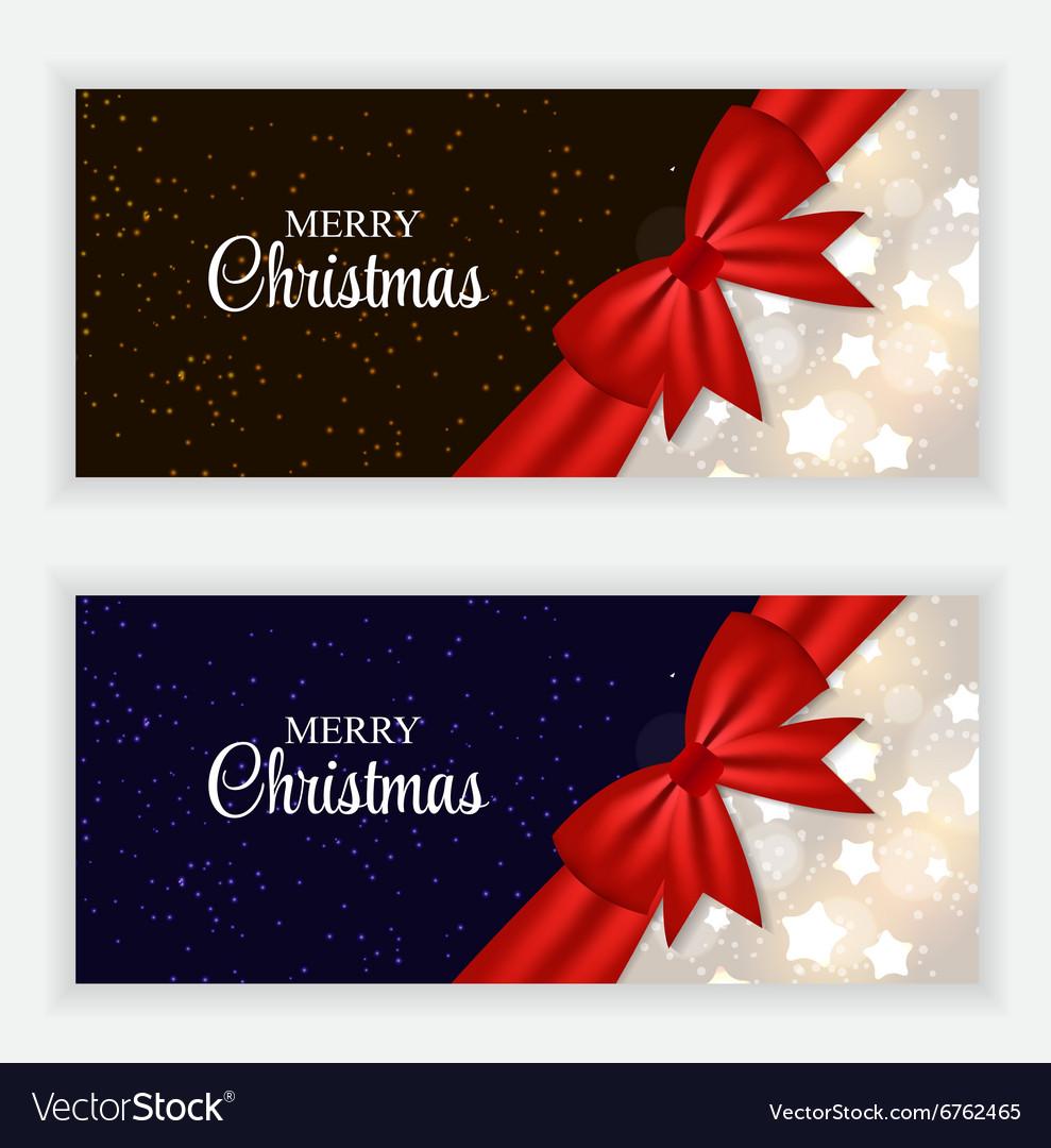 Christmas Gift Card Set vector image