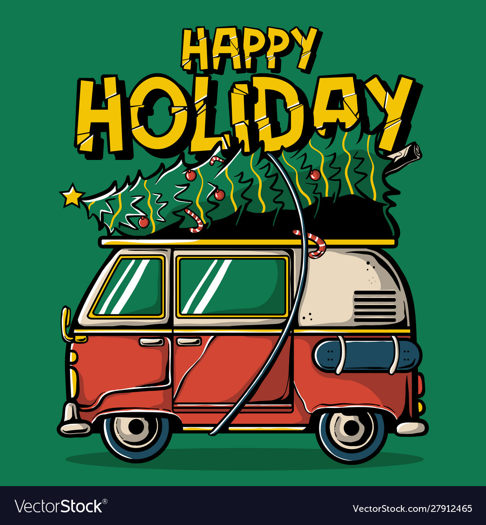 Happy holiday t-shirt design