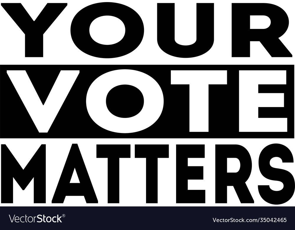 Your vote matters isolated on white background
