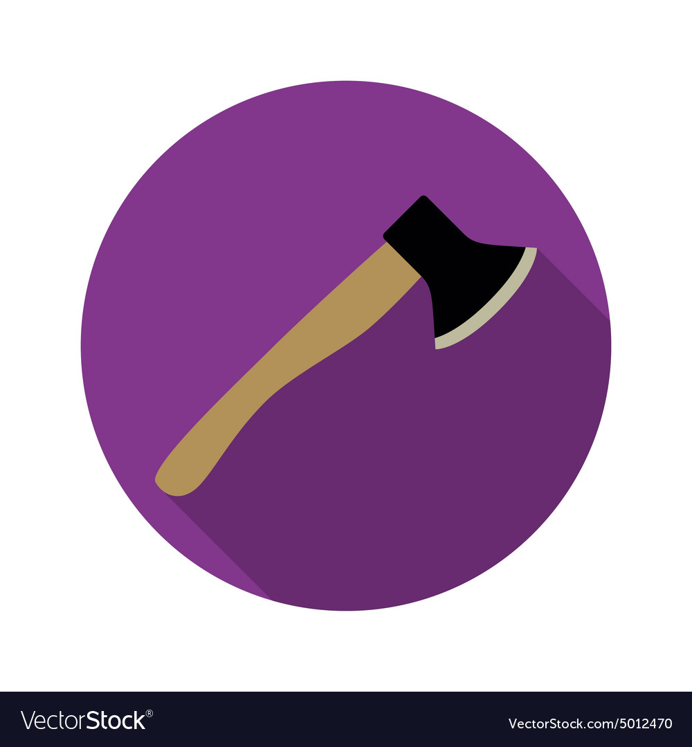 Axe icon with long shadow