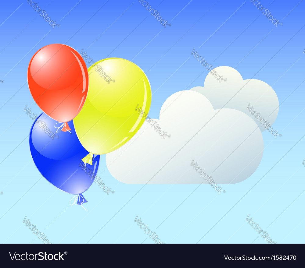 Balloons with clouds
