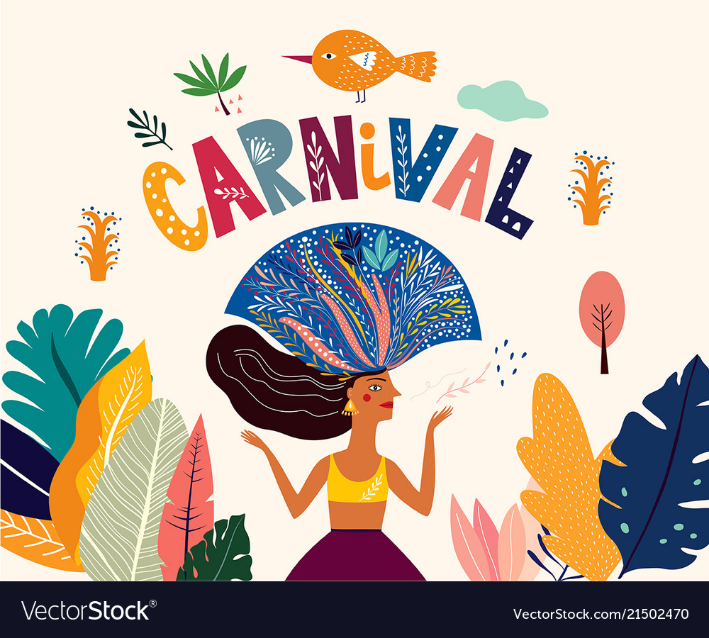 brazil carnival template royalty free vector image