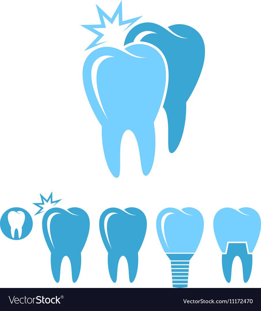 Dental hygiene Isolated teeth on white