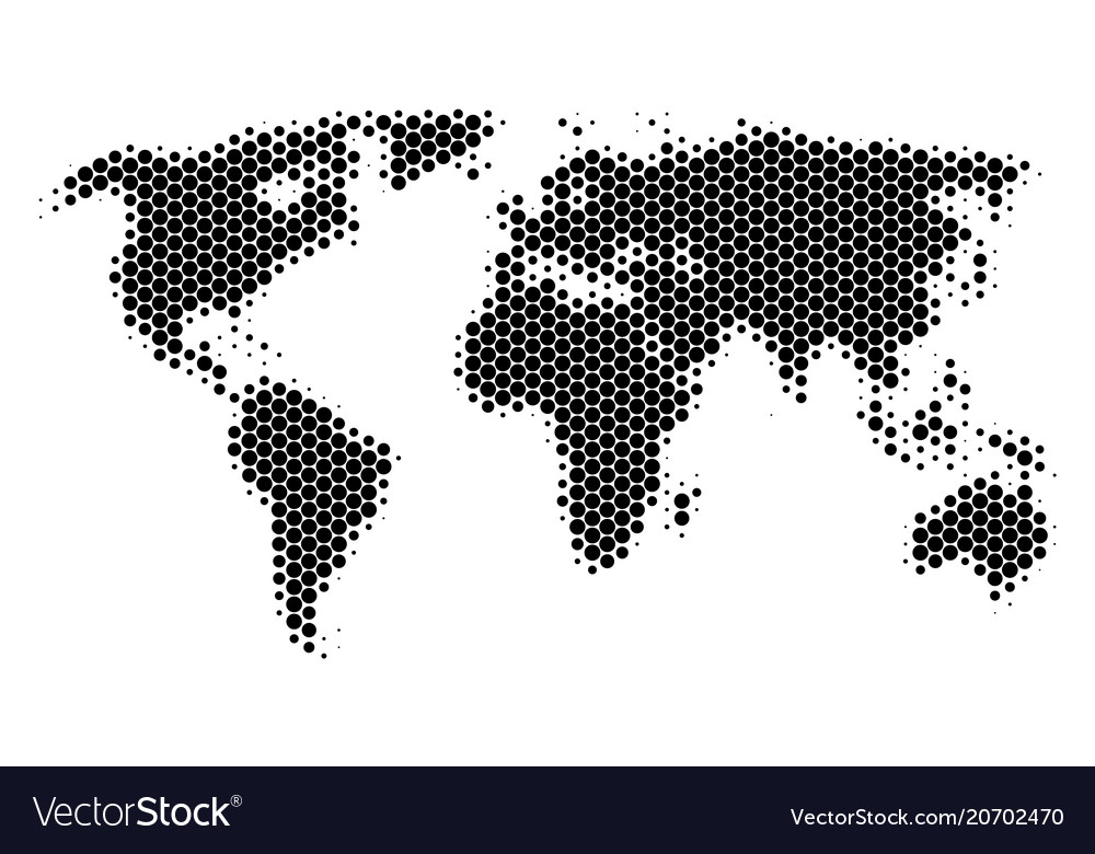 Dot halftone world map royalty free vector image dot halftone world map vector image gumiabroncs Gallery