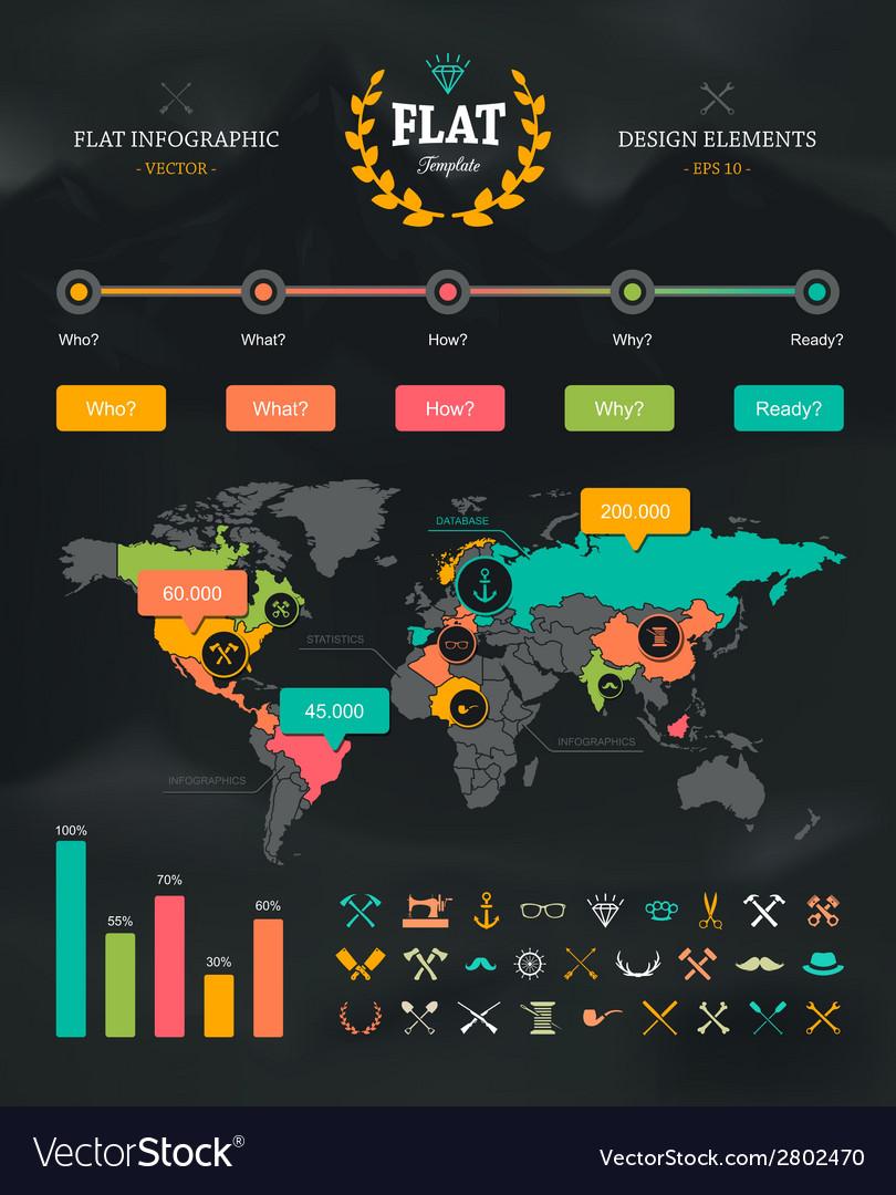 Flat Infographic Set 1