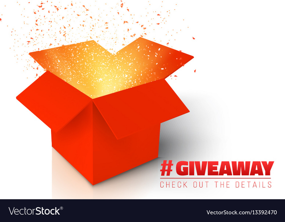 Red gift box isolated on white background vector image
