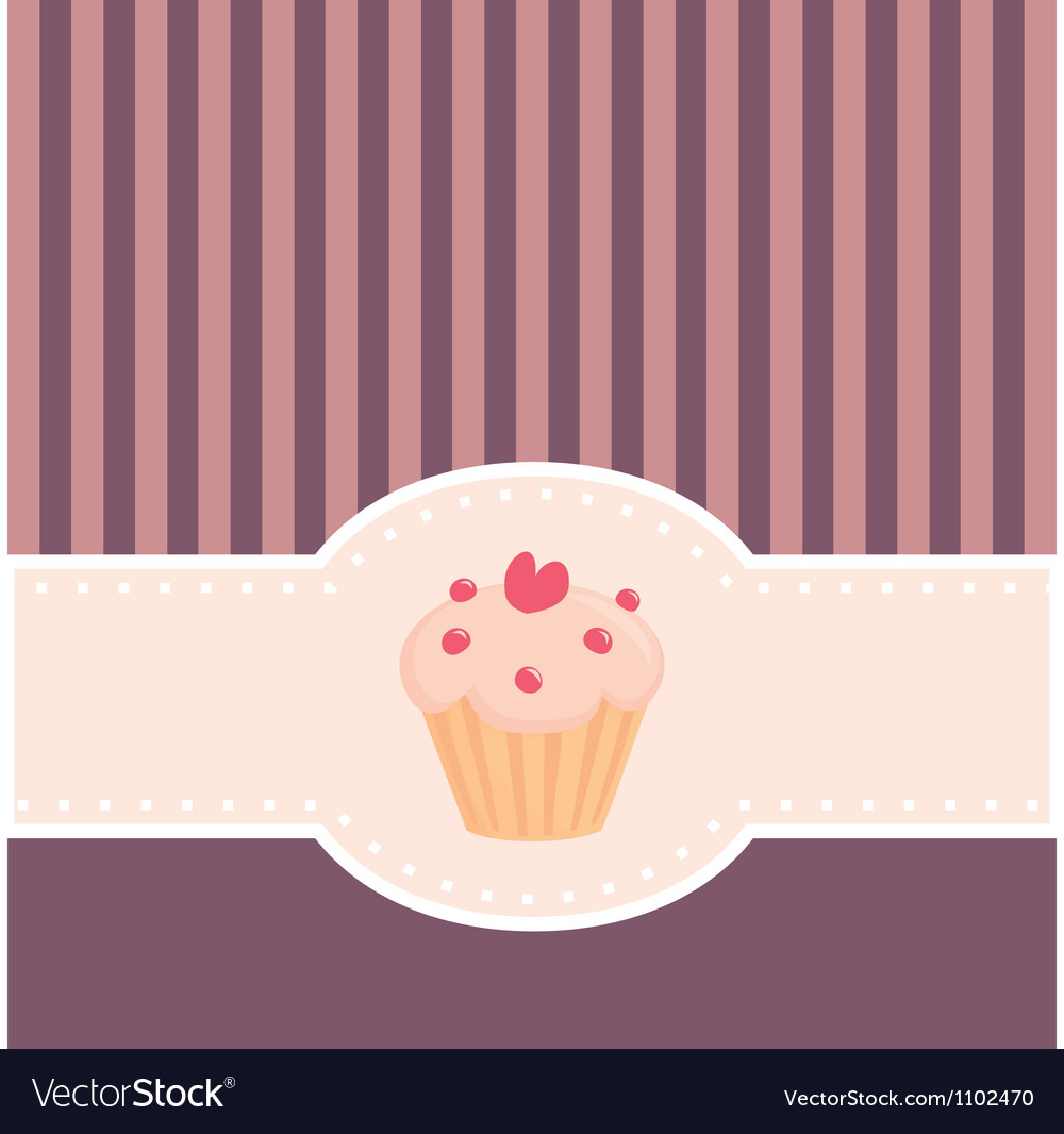 retro muffin cupcake invitation royalty free vector image