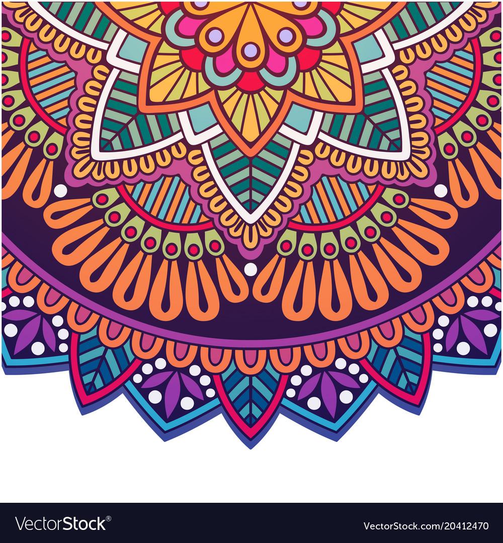 Vintage mandala colorful circle design imag