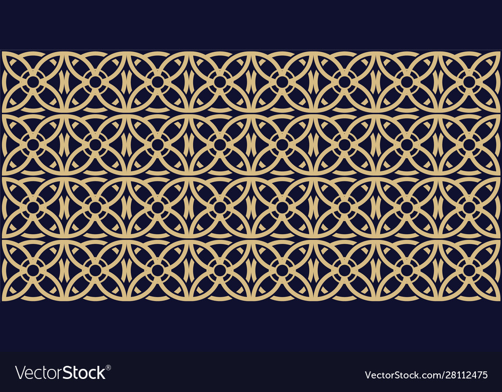 Abstract seamless pattern with celtic knot