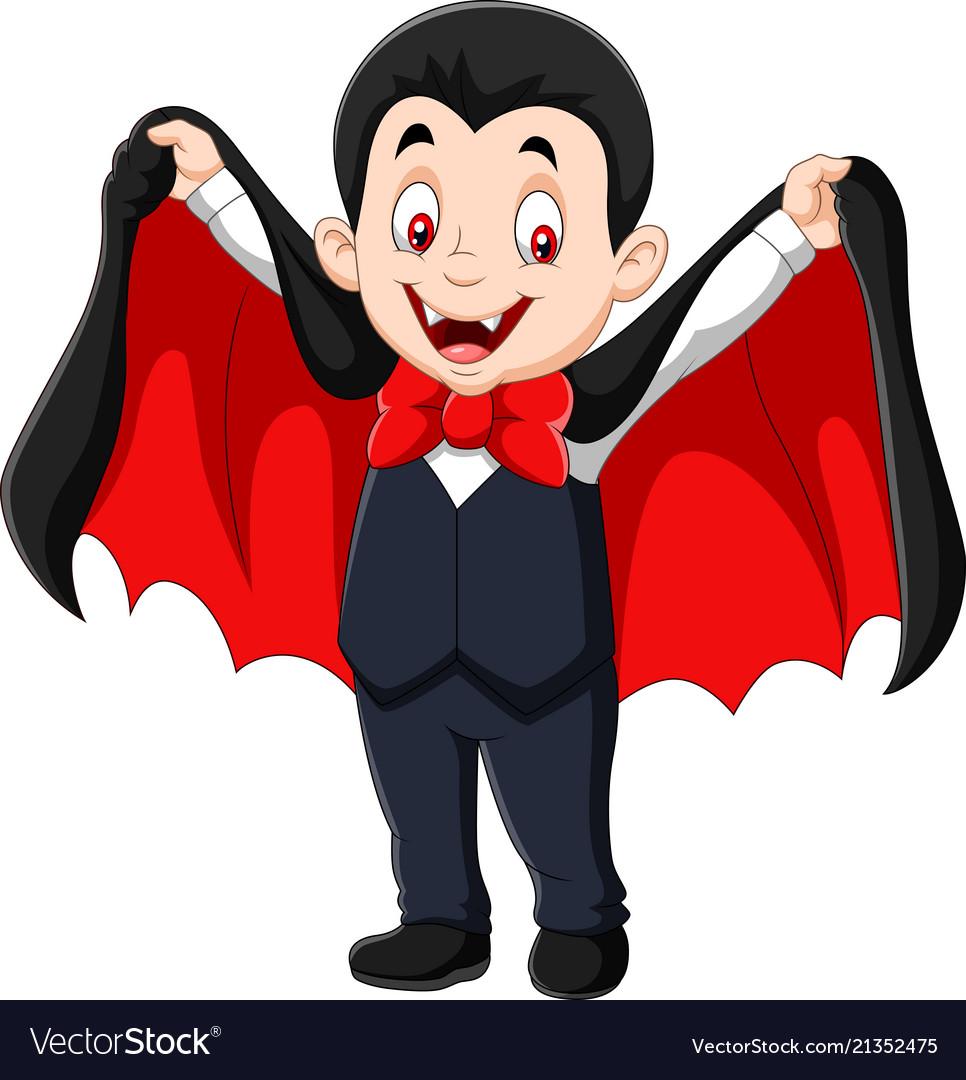 Cartoon funny vampire isolated on white background