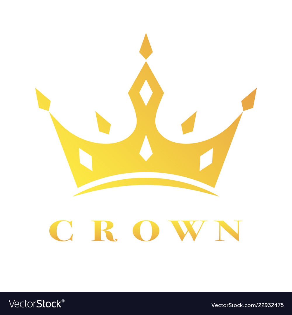 Creative crown concept logo design template eps