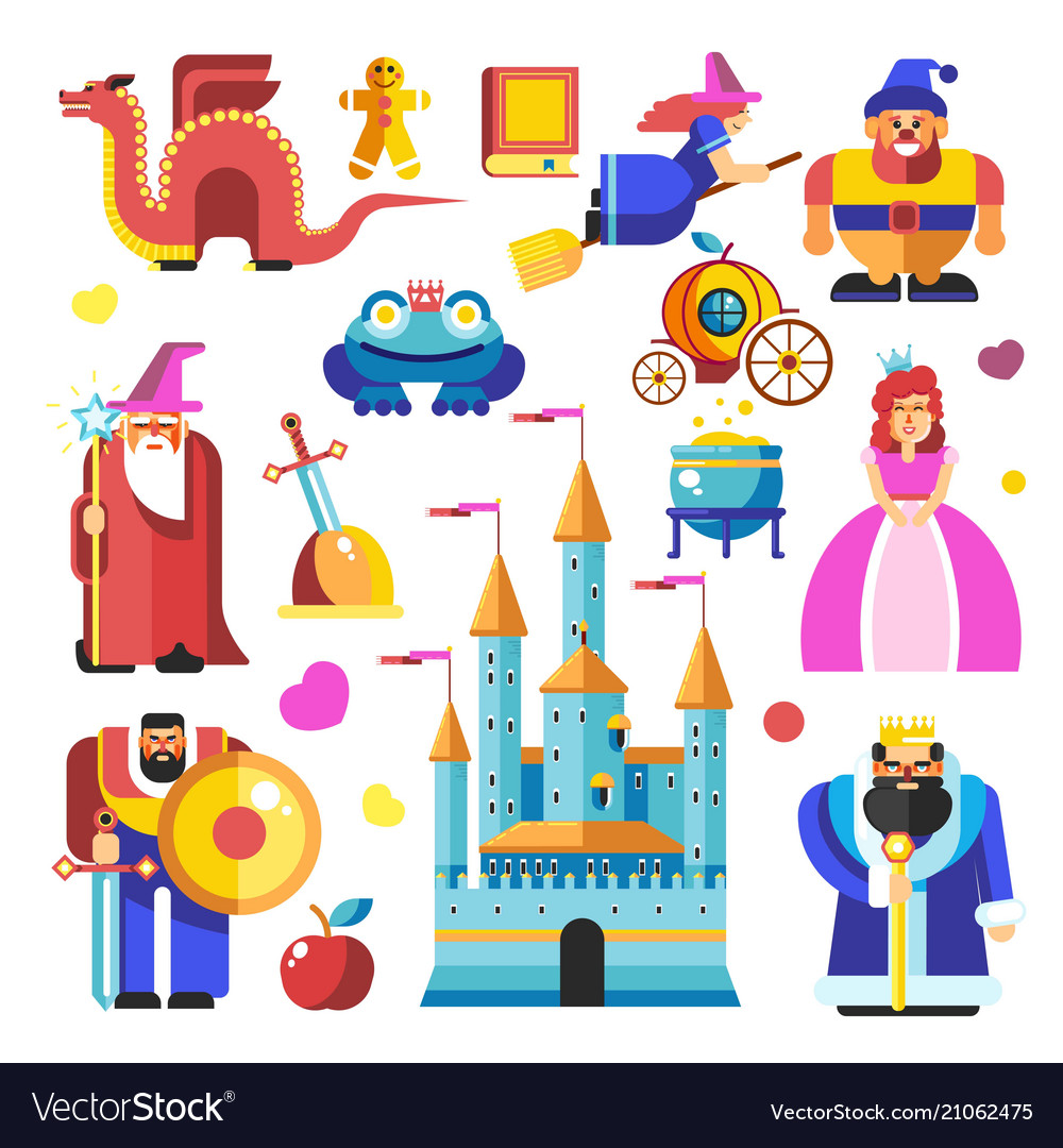 Fairy tale characters and creatures from