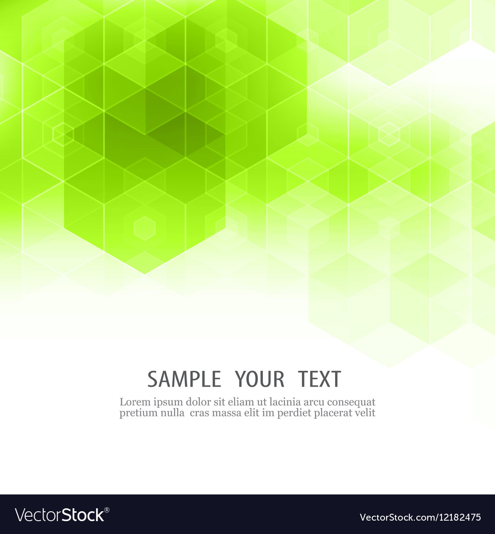 Geometric Green Abstract Background Hexagon