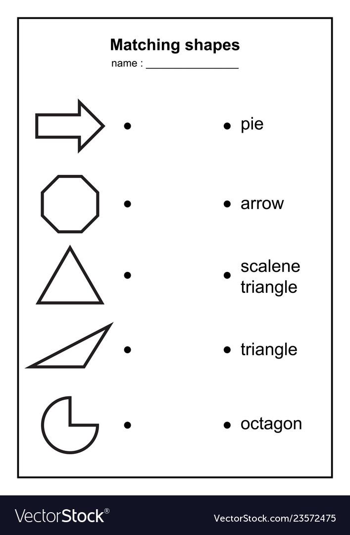 Geometry shape matching game educational