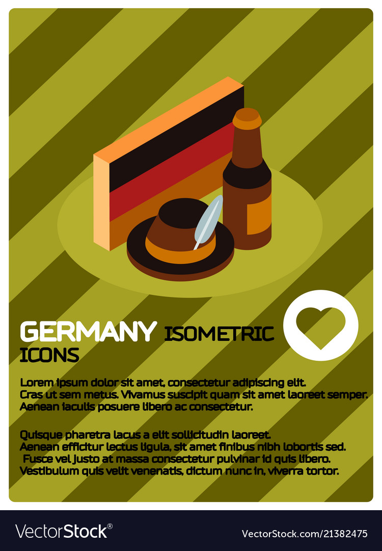 Germany color isometric poster