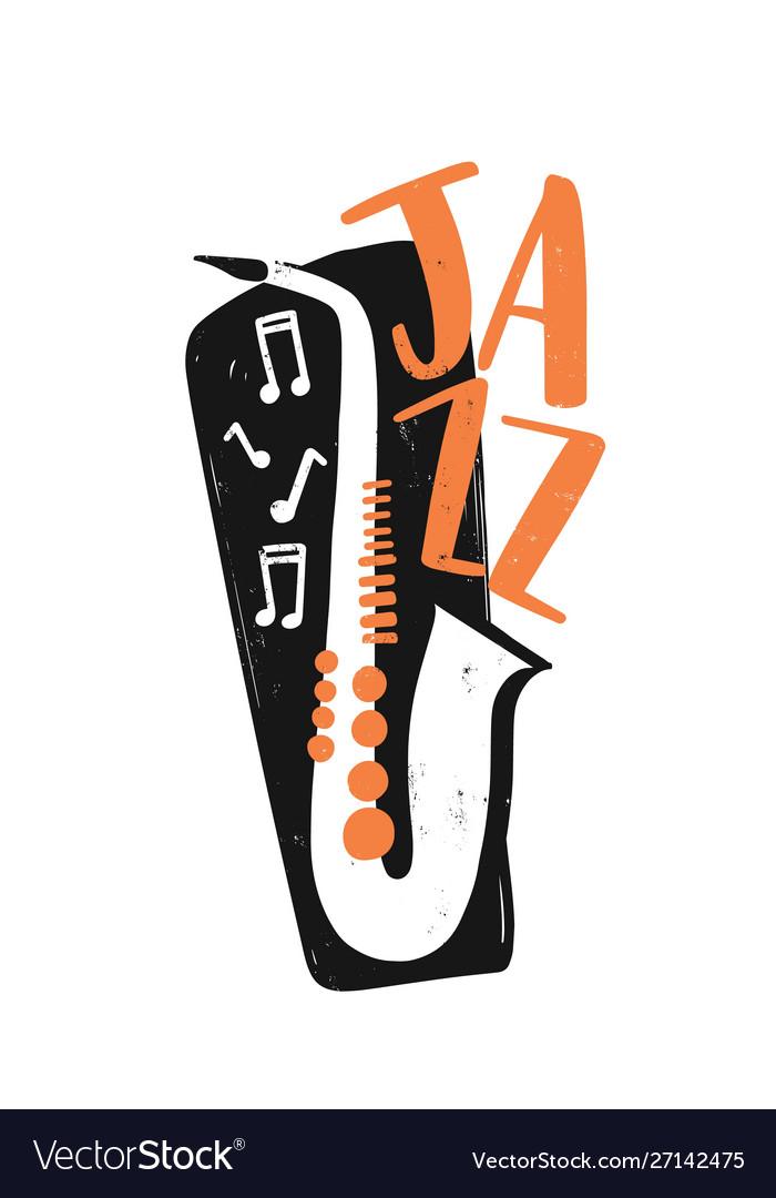 Jazz festival hand drawn