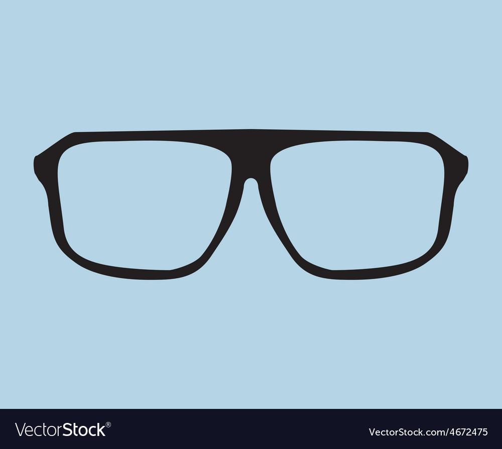 Nerd glasses on blue background
