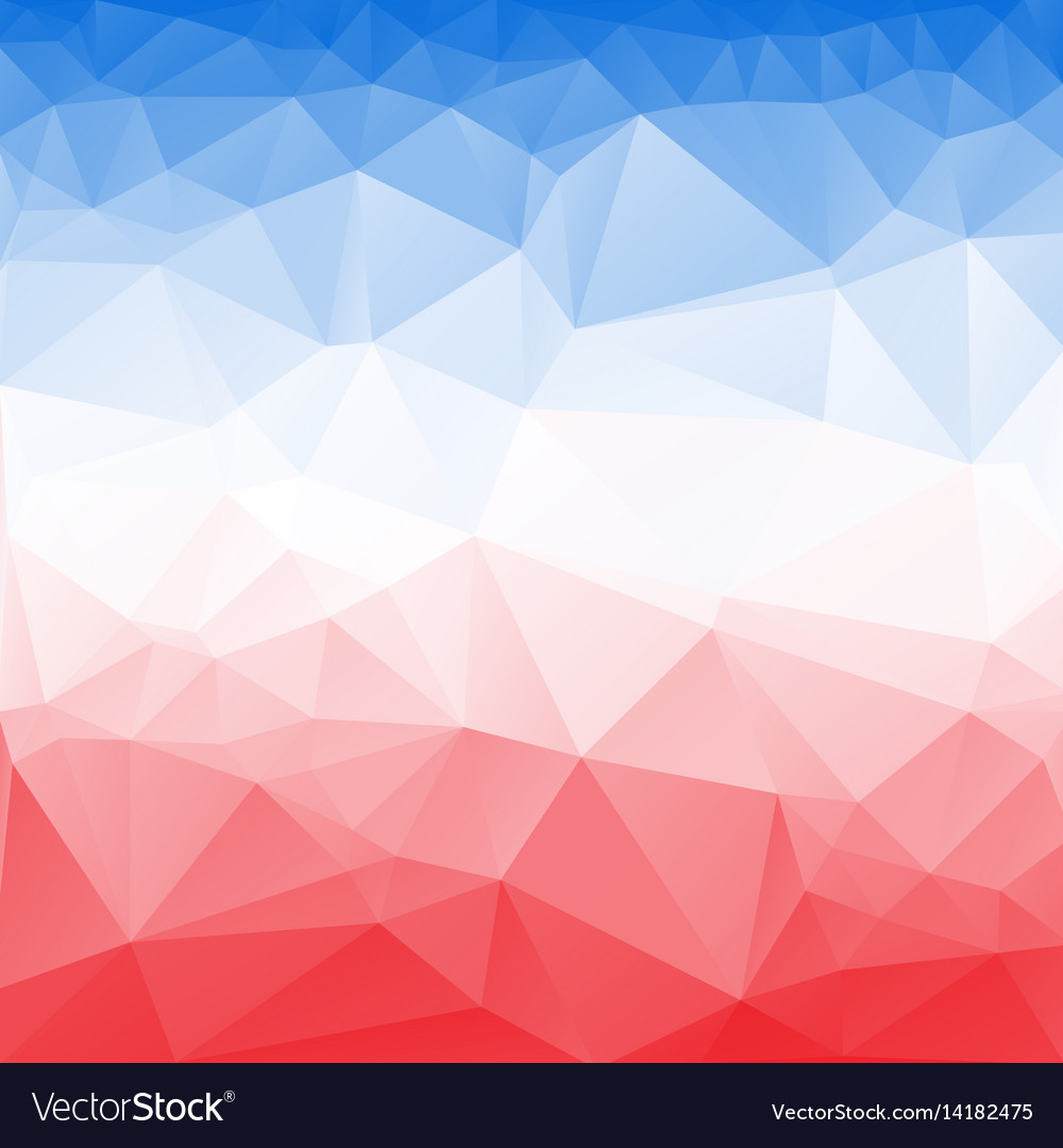 Red And Blue Poly Abstract Background Royalty Free Vector