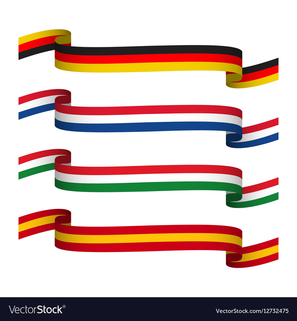 Set ribbons in the colors of Germany