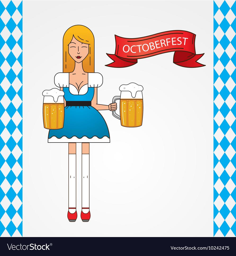 The symbol of the Oktoberfest in Munich Germany