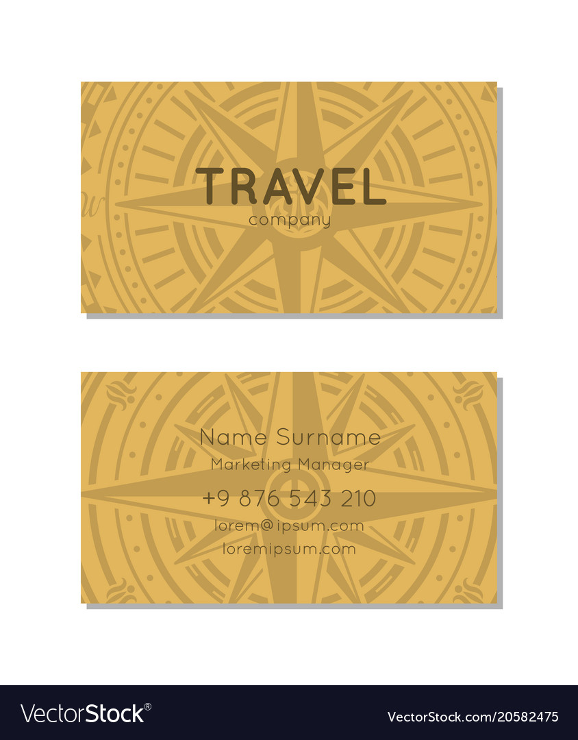 Travel agency business card layout royalty free vector image travel agency business card layout vector image colourmoves