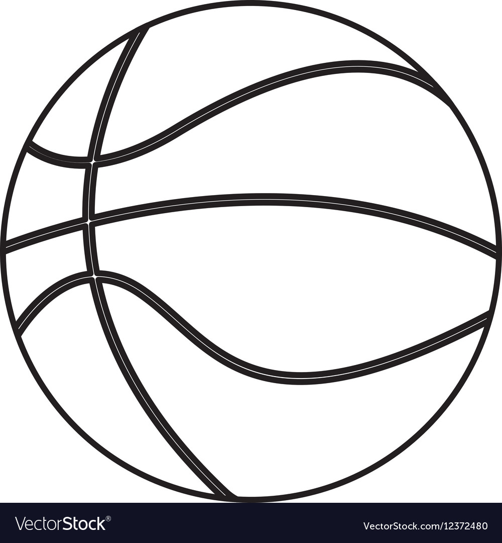 Basketball sport isolated icon