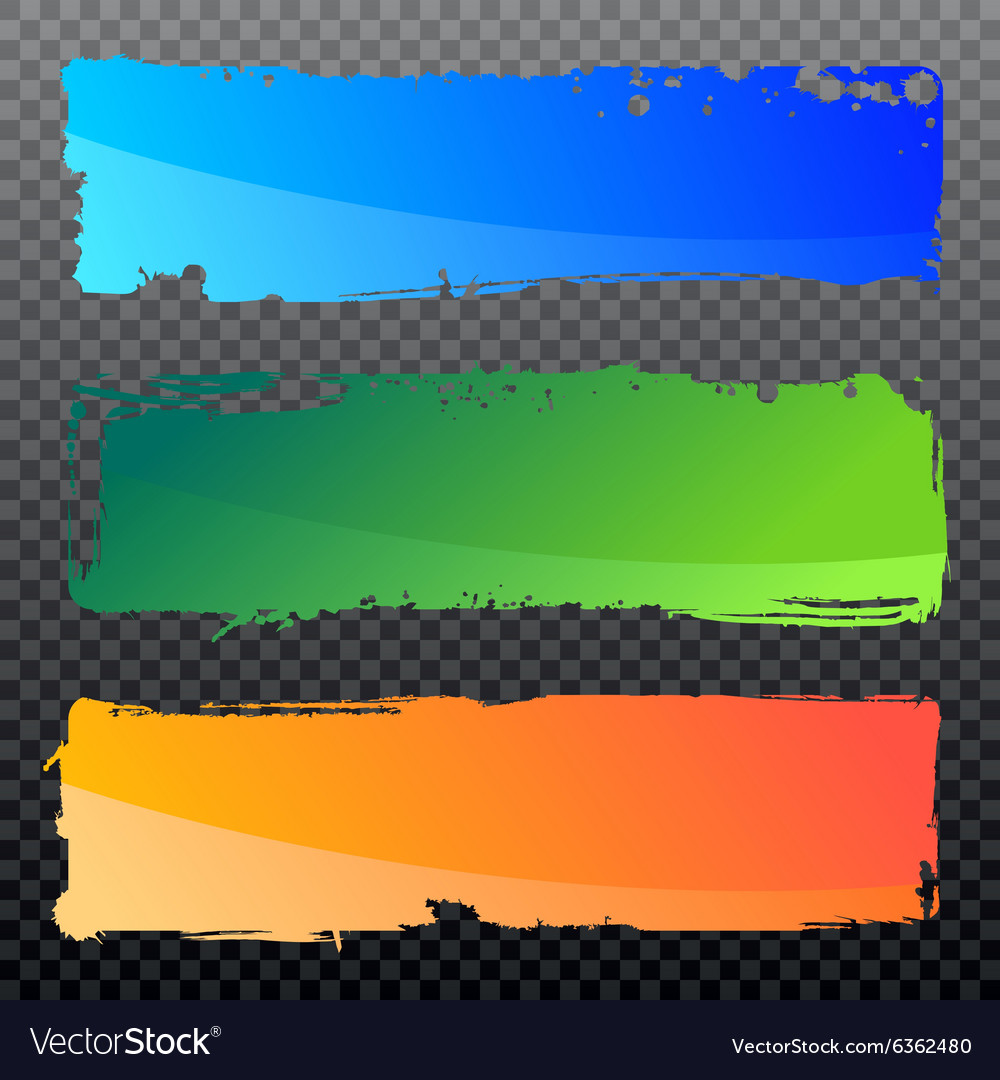 Collection of abstract grunge banners