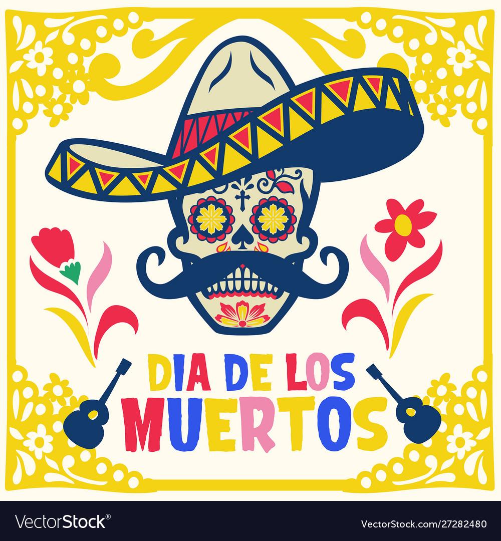 Dia de los muertos design with sugar skull