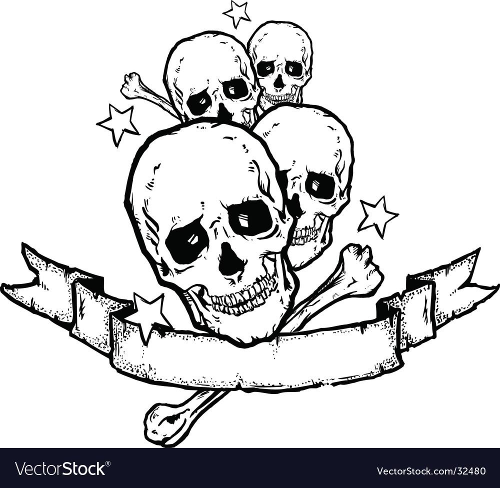 Heavy Metal Rock Banner Tattoo Vector. Artist: wingnutdesigns; File type: