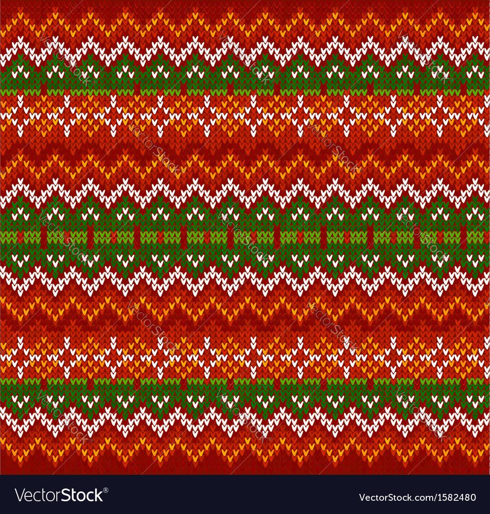 Red zigzag stripes knit seamless pattern