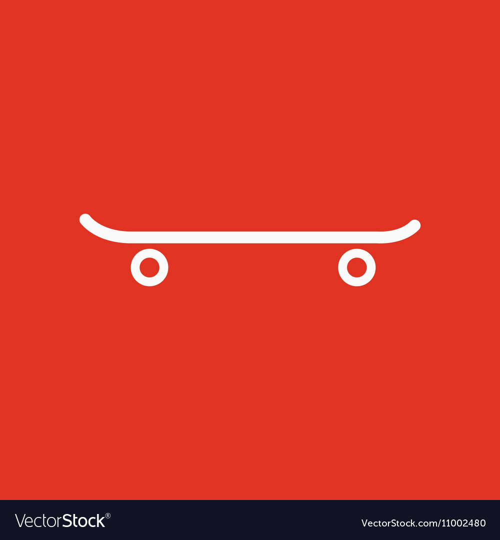The Skateboard Icon Sport Symbol Flat Royalty Free Vector