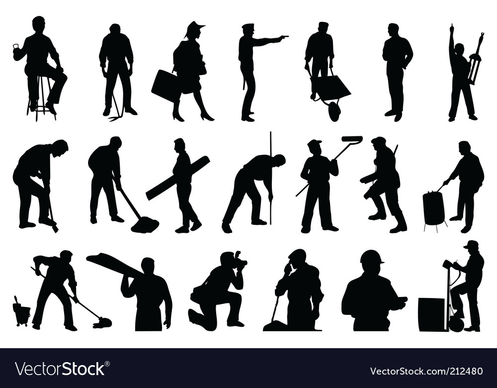 Working people vector image