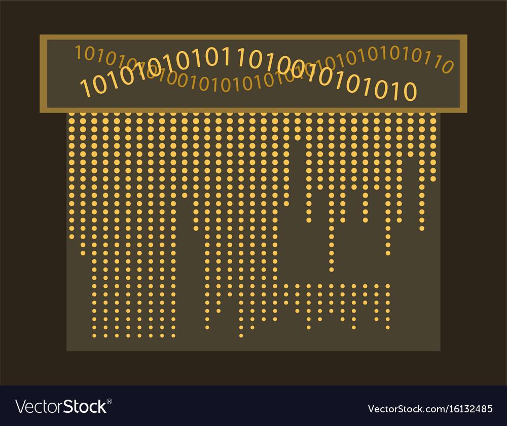 abstract matrix digital background