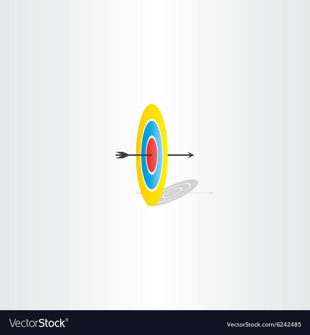 Arrow and target sign logo