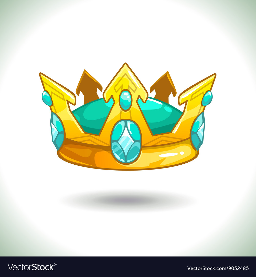 Fancy Cartoon Golden Crown Royalty Free Vector Image Over 32,773 golden crown pictures to choose from, with no signup needed. vectorstock