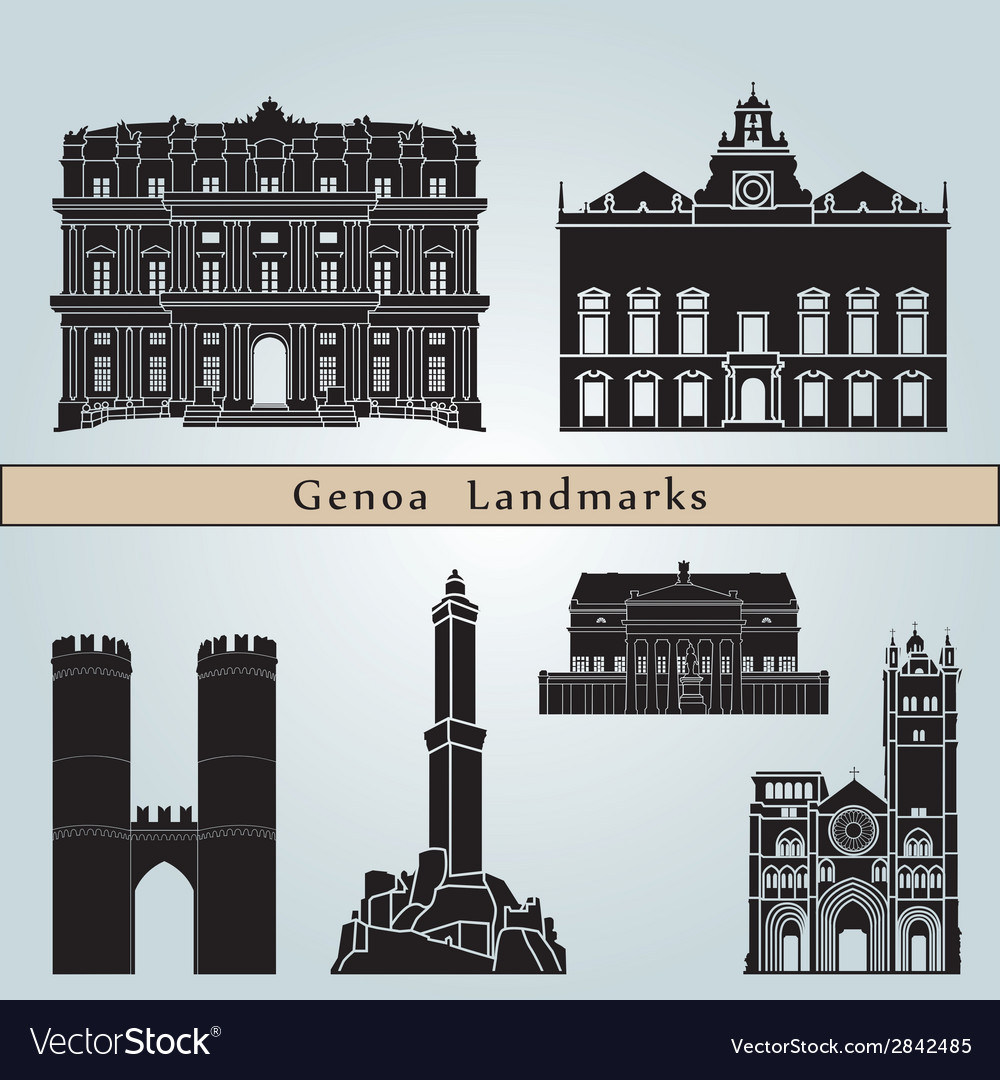 Genoa landmarks and monuments