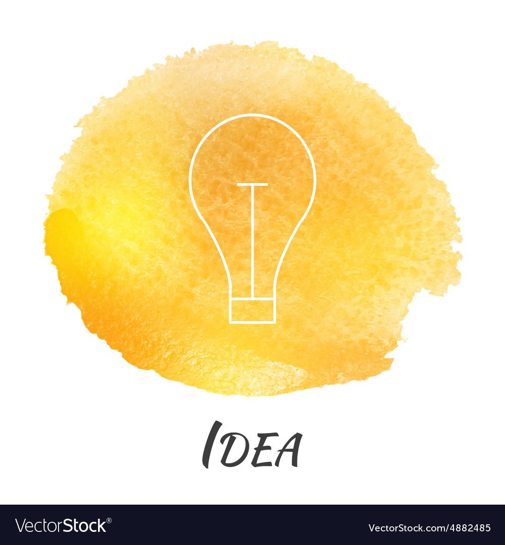 Idea Light Bulb Lamp Watercolor Concept