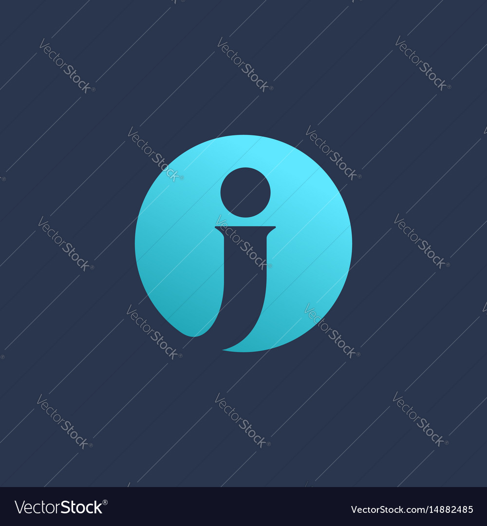 Letter j logo icon design template elements vector image