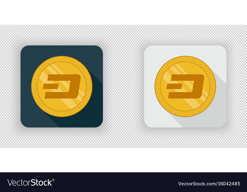 Light and dark crypto currency icon dash