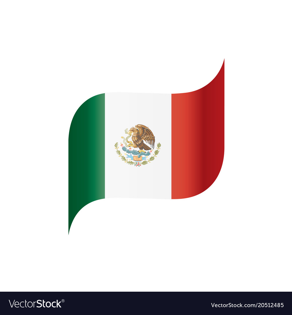 mexican flag royalty free vector image vectorstock rh vectorstock com mexican flag vector image mexican flag eagle vector