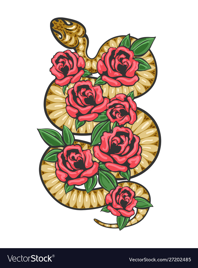 Snake white flowers patch