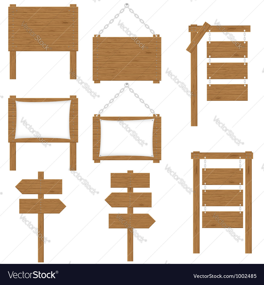 Wooden board 05 vector image