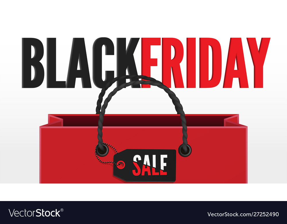 Black friday sale 3d banner template with shopping