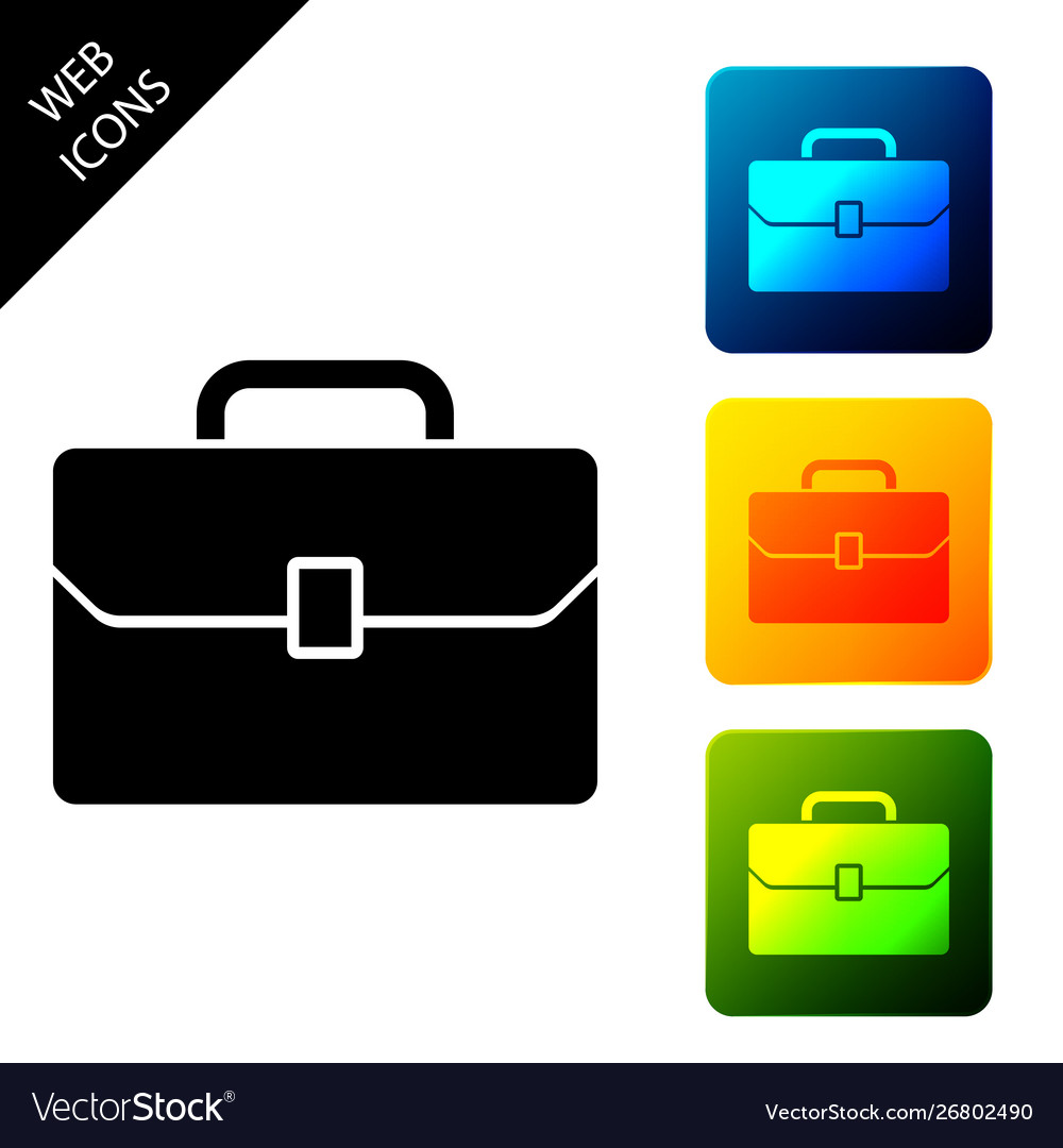 Briefcase icon isolated on white background