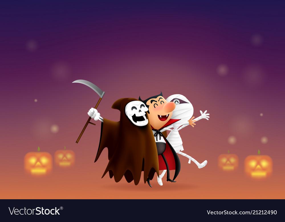 cartoon ghost says hello halloween royalty free vector image