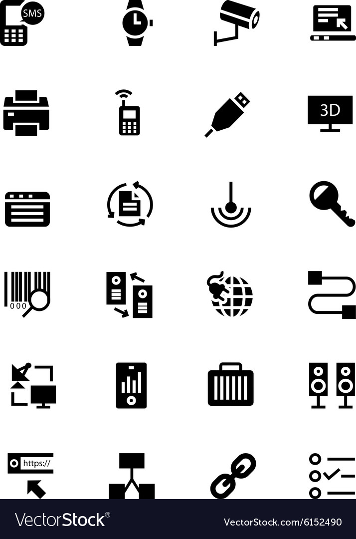 Communication Icons 4 vector image